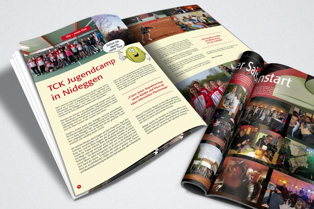 Magazin Design, Tennsiclub Königsdorf - Atelier Steinbüchel & Partner, Werbeagentur Köln