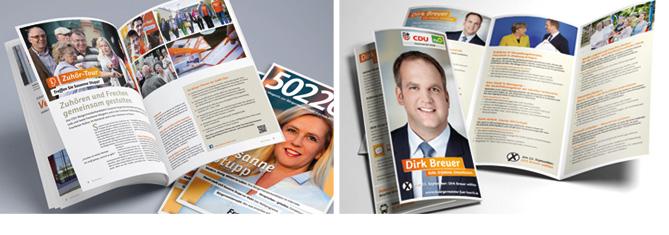 CDU Flyer, 50226 Broschüre, Atelier Steinbüchel, Werbeagentur Köln