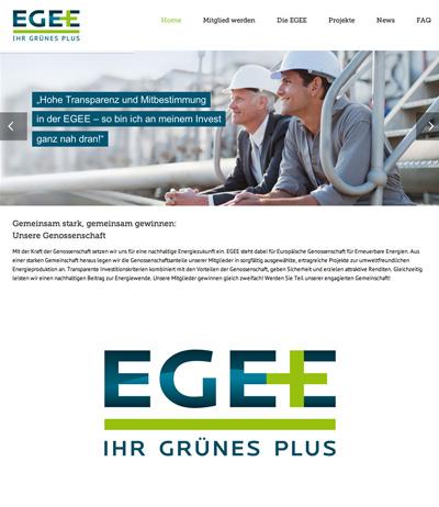 Web Design, Kölner Werbeagentur Atelier Steinbüchel & Partner, EGEE