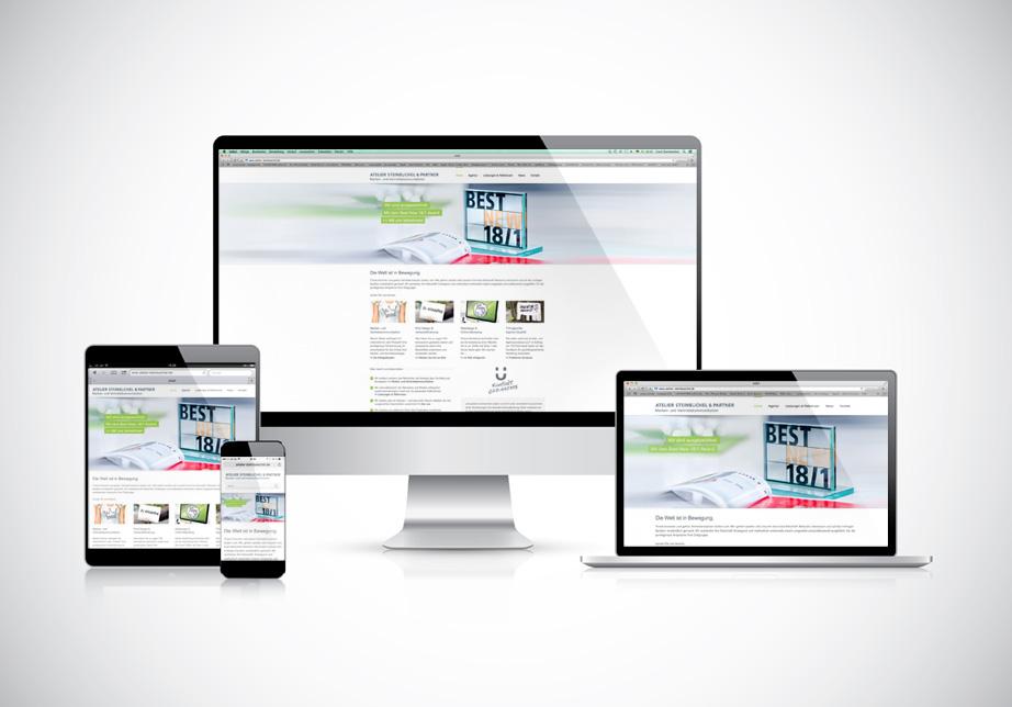 Onlinemarketing Köln, Responsive Web Design, Atelier Steinbüchel & Partner, Werbeagentur Köln