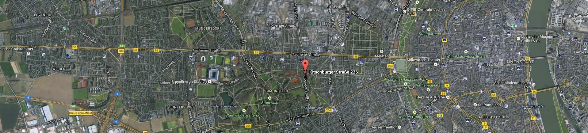 Kontakt_Karte_Kitschburger Str. 226; Köln