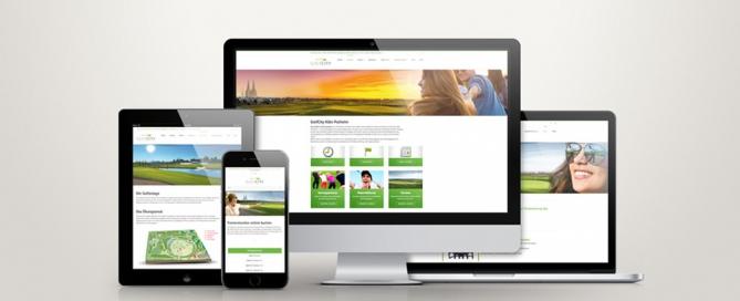 GolfCity - Website-Relaunch, Crossmediale Vernetzung - Atelier Steinbüchel, Werbeagentur Köln