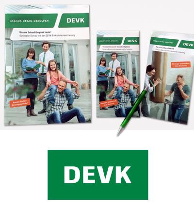 Verkaufsunterlagen Design, Kölner Werbeagentur Atelier Steinbüchel & Partner, DEVK