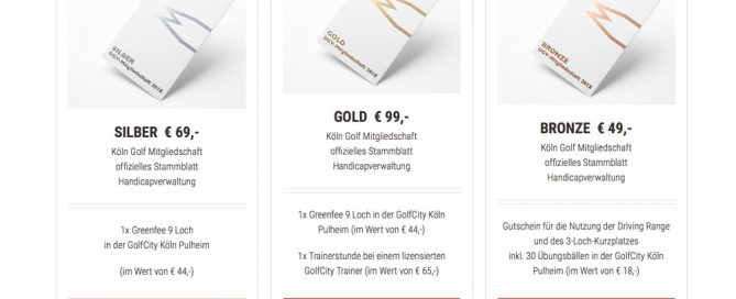 Golfmarketing: Preisliste im WooCommerce Online Shop