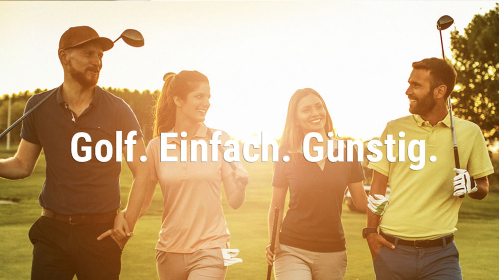 Golfmarketing: Keyvisual Design durch die Werbeagentur Köln