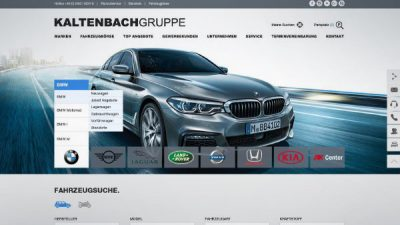 Startseite Webdesign, Autohausmerketing