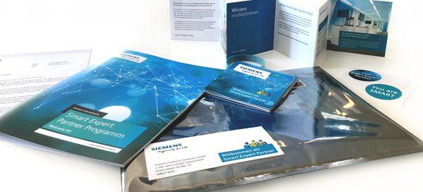 Marketingunterlagen für Siemens Industry Software GmbH für den Vertrieb.